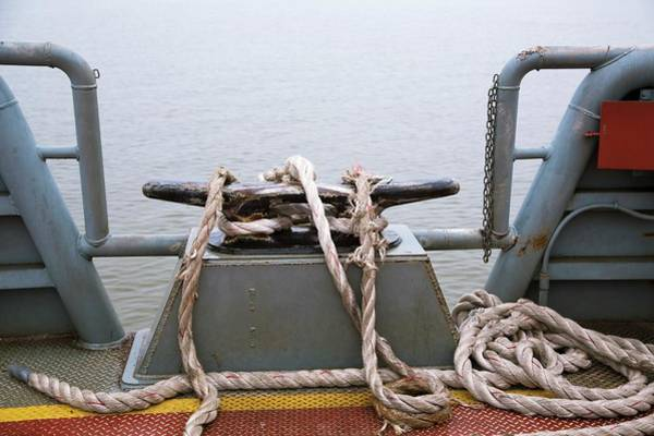 Us West Coast Photograph - Frayed Mooring Line by Jim West