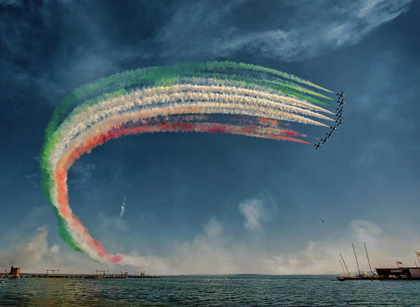 Aviation Photograph - Frecce Tricolori by J. Antonio Pardo