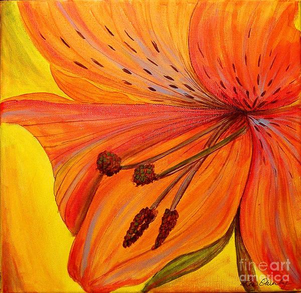 Painting - Freckles On Orange by Lee Owenby