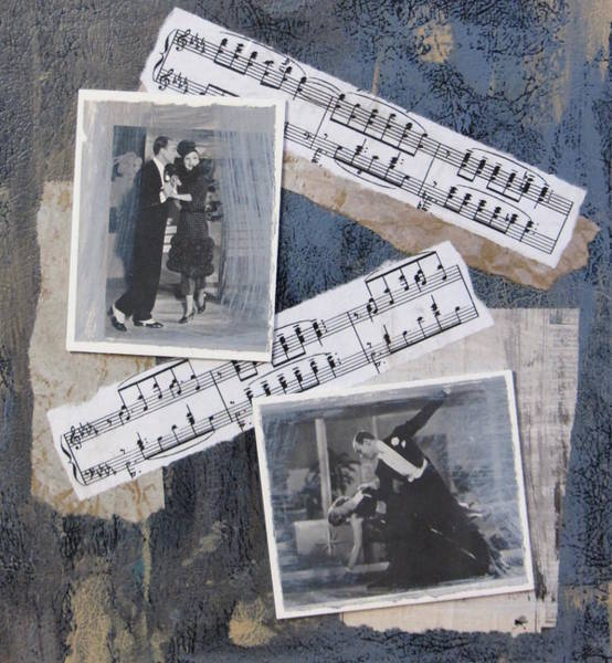 Contrast Mixed Media - Fred And Ginger Collage by Anita Burgermeister