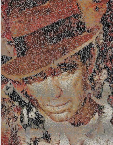 Bogart Digital Art - Fred C. Dobbs Quotes Mosaic by Paul Van Scott