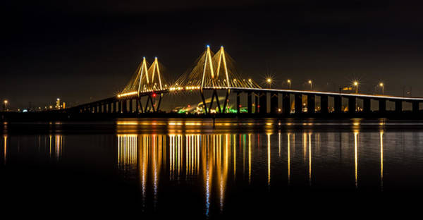 Photograph - Fred Hartman Bridge by David Morefield
