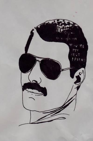 Moustache Mixed Media - Freddie by Eloise Mckinna