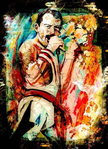 Painting - Freddie Mercury Madness by Miki De Goodaboom