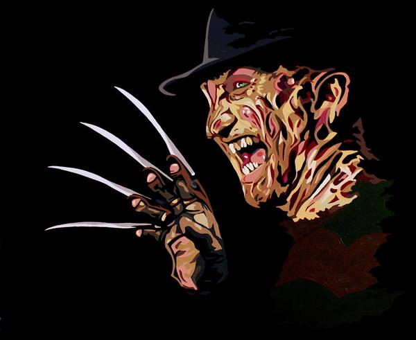 Nightmare On Elm Street Painting - Freddy by Ian  King
