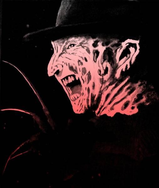 Nightmare On Elm Street Painting - Freddy by Kara Norris