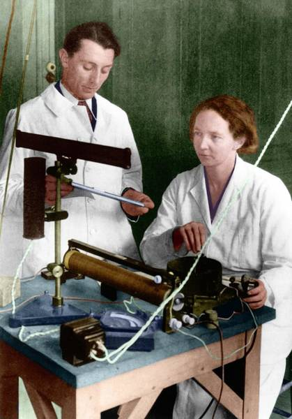 Nobel Prize Winners Wall Art - Photograph - Frederic And Irene Joliot-curie by Emilio Segre Visual Archives/american Institute Of Physics