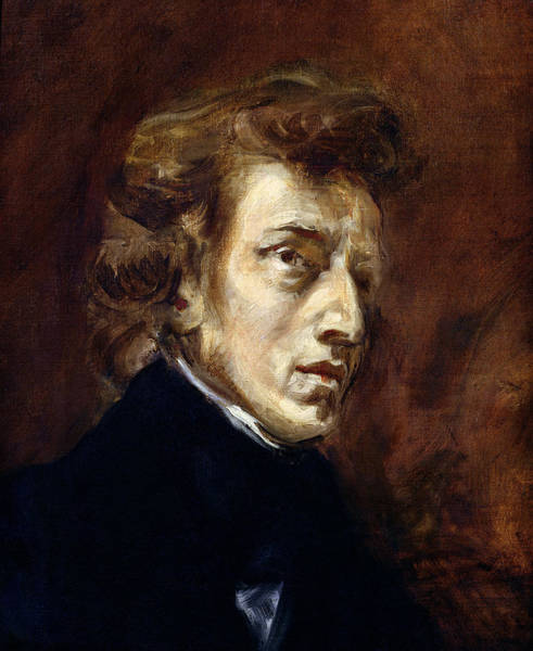 Historical Figure Painting - Frederic Chopin  by Ferdinand Victor Eugene Delacroix