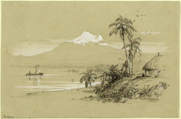 Wall Art - Drawing - Frederic Edwin Church American, 1826 - 1900 by Quint Lox