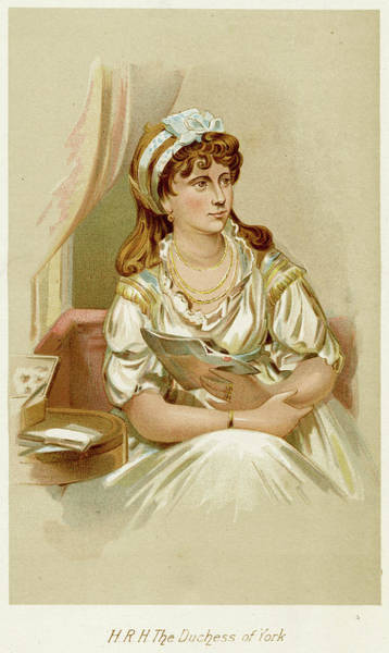 Wall Art - Drawing - Frederica Charlotte Ulrica Duchess by Mary Evans Picture Library