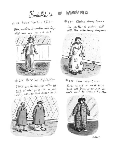 Winter Drawing - Frederick's Of Winnipeg by Roz Chast
