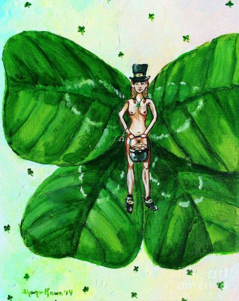 Lucky Clover Painting - Free As St. Patrick's Luck by Shana Rowe Jackson