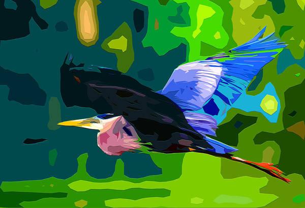 Great Blue Heron Mixed Media - Free Bird 2 by Brian Stevens