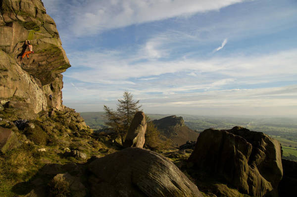 Photograph - Free Climbing In The Roaches by Pete Hemington