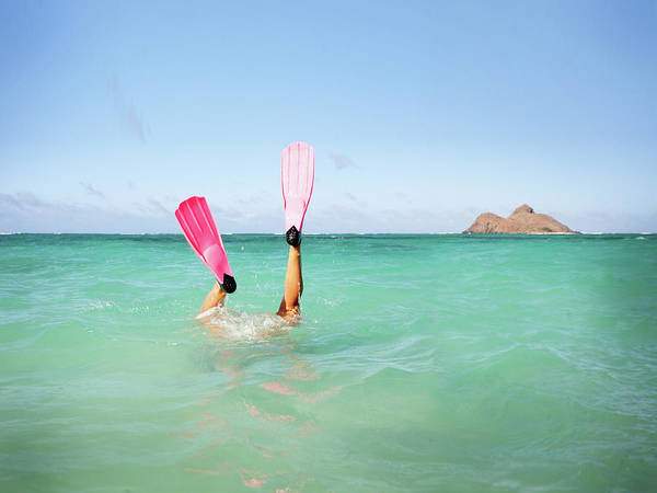 Snorkel Photograph - Free Dive Flippers by M Swiet Productions