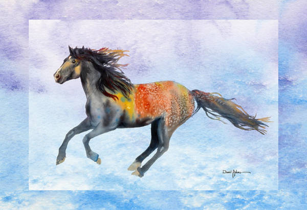 Wall Art - Painting - Da114 Free Gallop By Daniel Adams by Daniel Adams