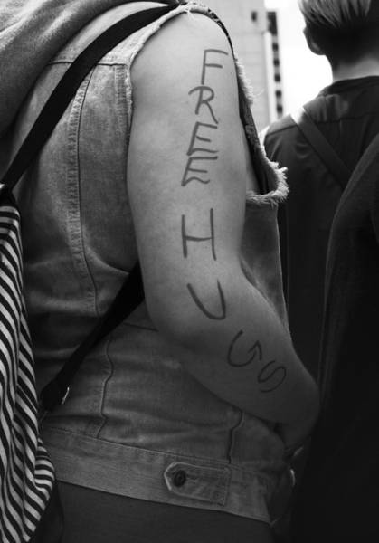 Pride Festival Photograph - Free Hugs by The Artist Project