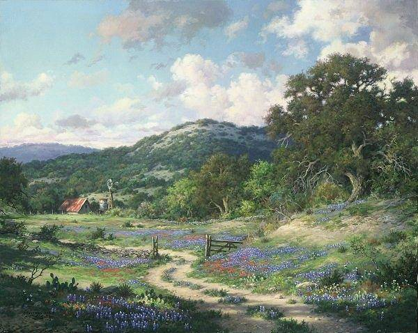 Digital Art - Free Print Hill Country Evening by Larry Dyke