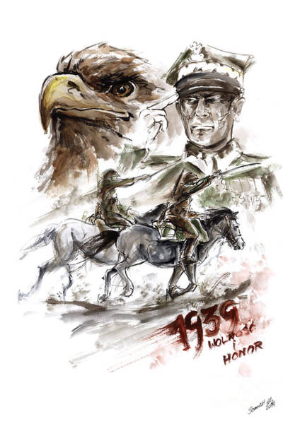 Poland Painting - Freedom And Honour. by Mariusz Szmerdt