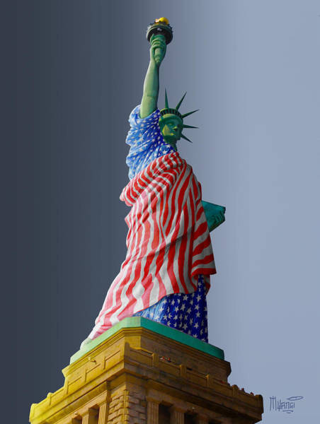 Statue Of Liberty National Monument Wall Art - Digital Art - Queen Liberty by Anthony Mwangi