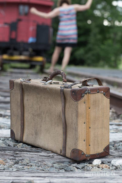 Red Caboose Photograph - Freedom by Edward Fielding