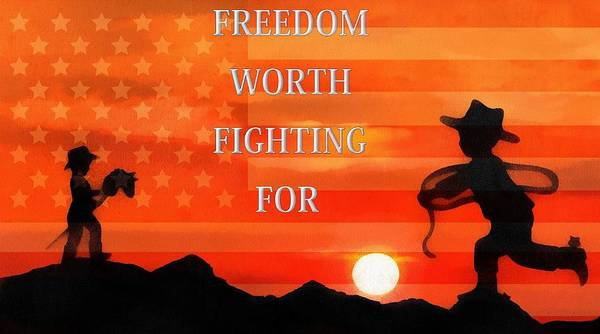 Wall Art - Mixed Media - Freedom Is Worth Fighting For by Dan Sproul