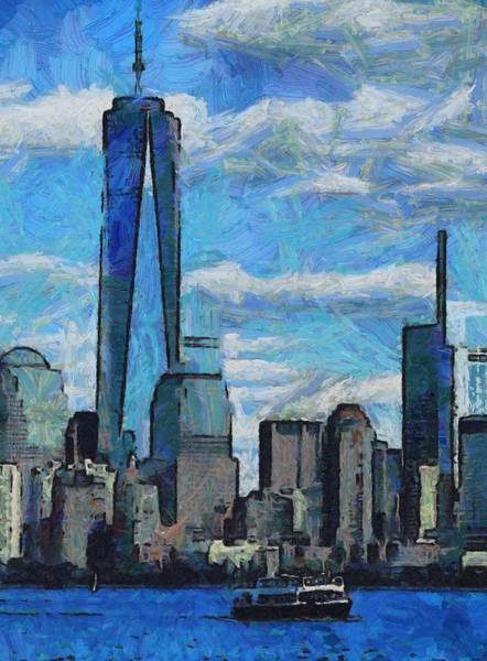Manhattan Skyline Painting - Freedom Isn't Free by Dan Sproul
