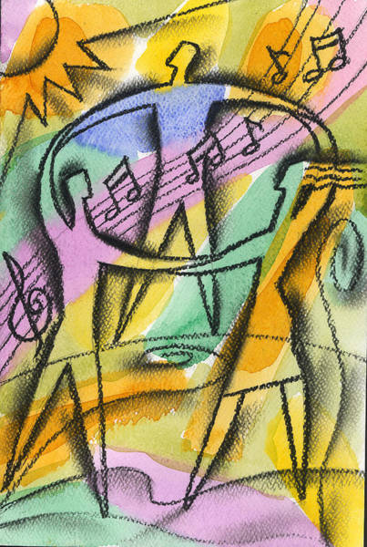 Wall Art - Painting - Music, Harmony And Health by Leon Zernitsky