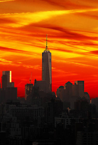 Wall Art - Photograph - Freedom Tower At Sunset by Frank Savarese