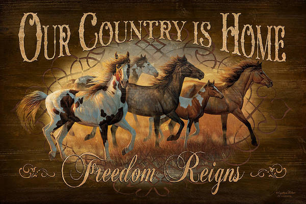 Licensing Wall Art - Painting - Freedon Reigns by JQ Licensing