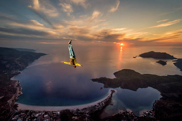 Jumping Photograph - Freefalling With Guillaume Galvani by Tristan Shu