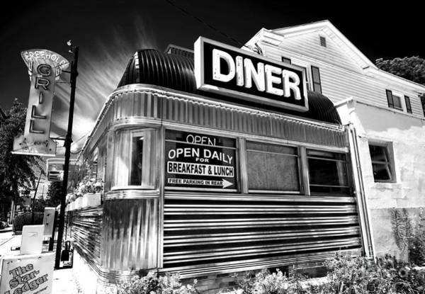 Stainless Steel Wall Art - Photograph - Freehold Diner New Jersey by John Rizzuto