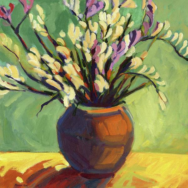 Painting - Freesias by Konnie Kim