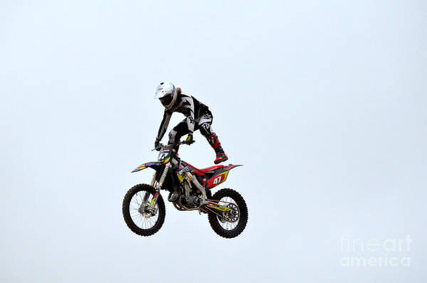 Dirtbike Photograph - Freestyle Motocross Stunts by DejaVu Designs
