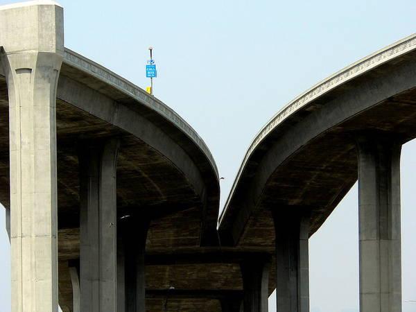 Photograph - Freeway Flyover Interchange by Jeff Lowe