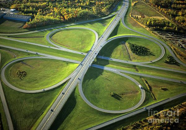 Photograph - Freeway Interchange by Publiphoto