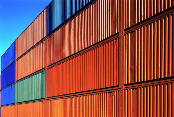 Freight Transport Wall Art - Photograph - Freight Containers by Alex Bartel/science Photo Library