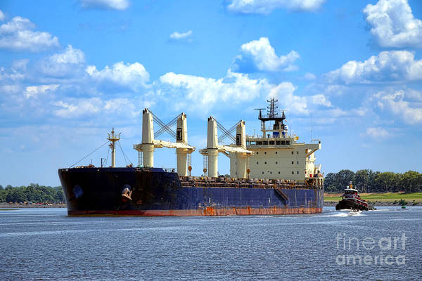 Cargo Ship Photograph - Freight Hauler by Olivier Le Queinec