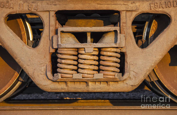 Photograph - Freight Train And Track by Bryan Mullennix