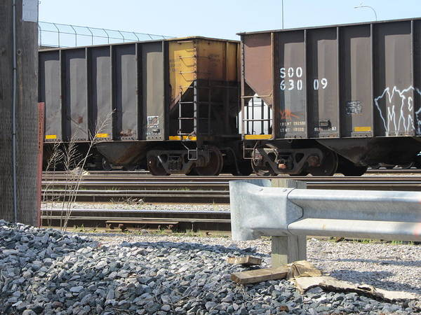Photograph - Freight Train Cars 1 by Anita Burgermeister