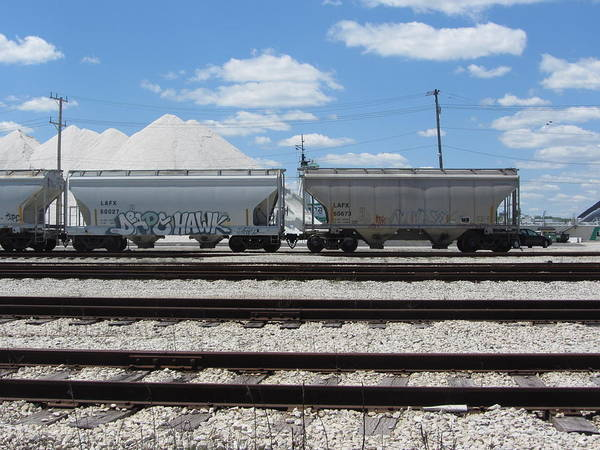 Photograph - Freight Train Cars 6 by Anita Burgermeister