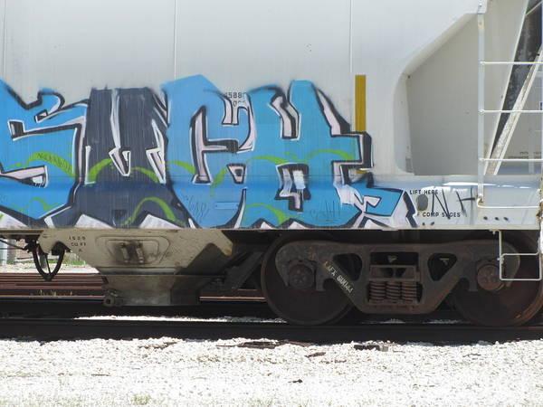 Photograph - Freight Train Graffiti 6 by Anita Burgermeister