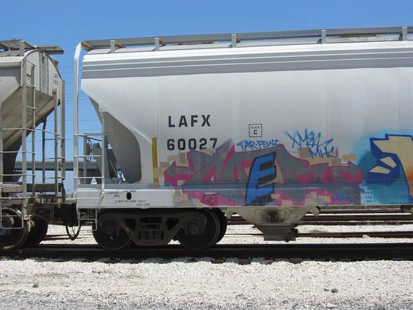 Photograph - Freight Train Graffiti 7 by Anita Burgermeister