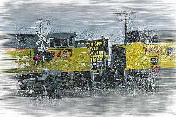Wall Art - Photograph - Freight Train Grunge by Steve Ohlsen