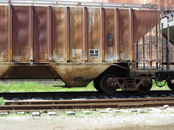 Photograph - Freight Train Wheels 14 by Anita Burgermeister
