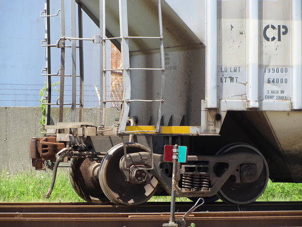 Photograph - Freight Train Wheels 9 by Anita Burgermeister