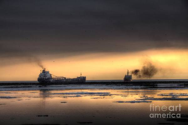Photograph - Freighter And The Cutter by Jim Lepard
