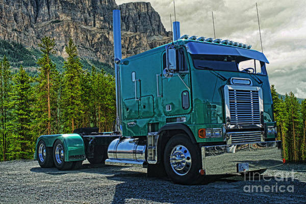 Freightliner Wall Art - Photograph - Freightliner Cabover by Randy Harris