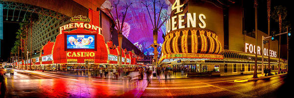 Time Exposure Wall Art - Photograph - Fremont Street Experience by Az Jackson