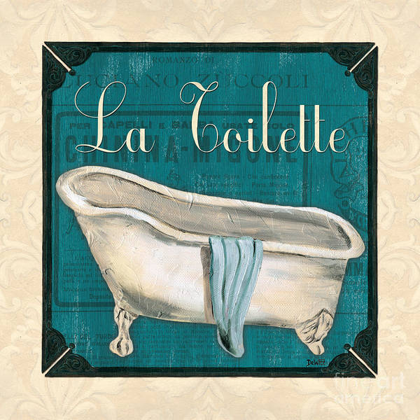 Tub Wall Art - Painting - French Bath by Debbie DeWitt